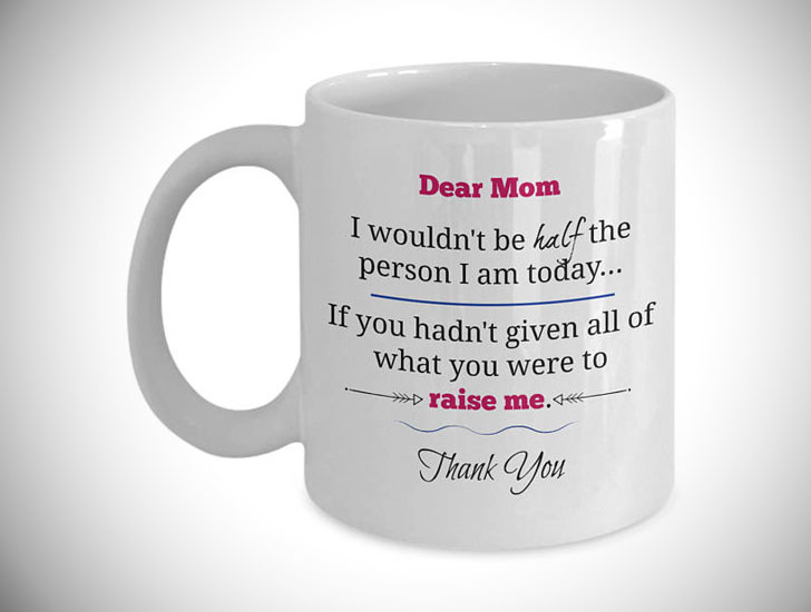 Dear Mom Thank You Mug