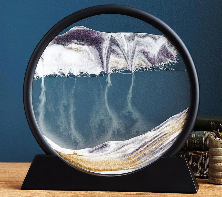 Deep Sea Sand Art Desk Sculpture