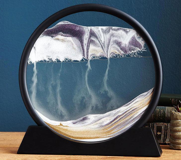 Deep Sea Sand Art Desk Sculpture