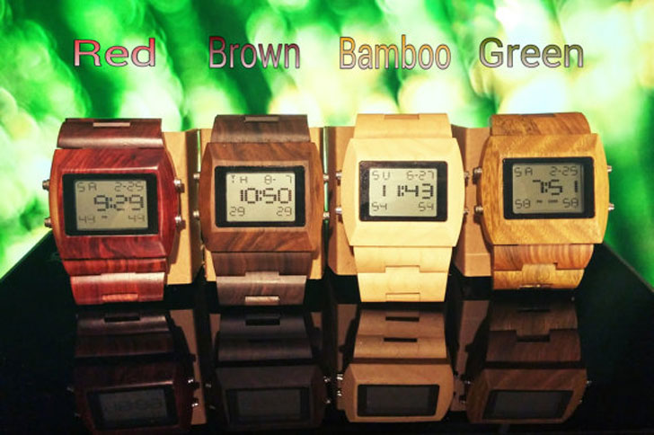 Digital Wooden Watches