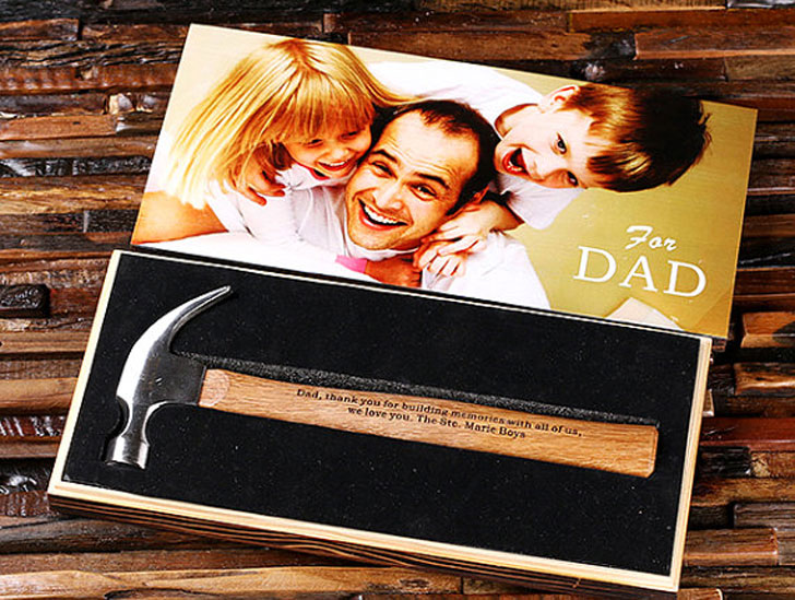 Engraved Personalized Hammer with Wood Box