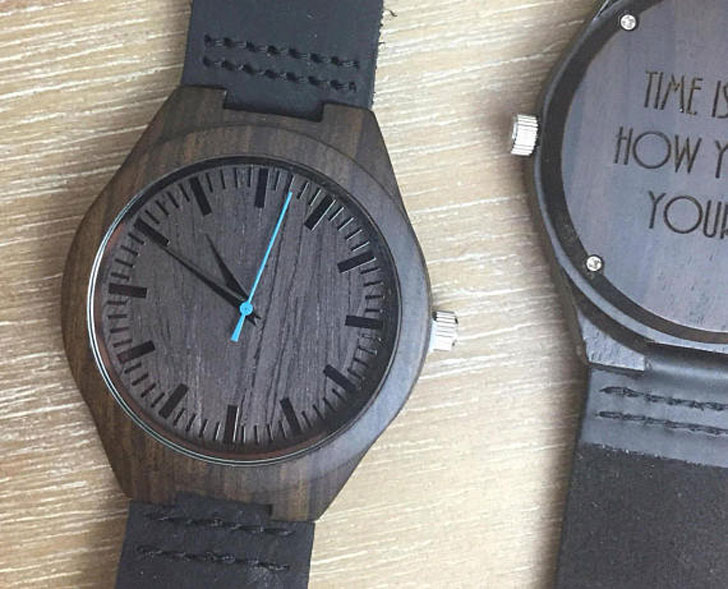 Engraved Wooden Watch for Him