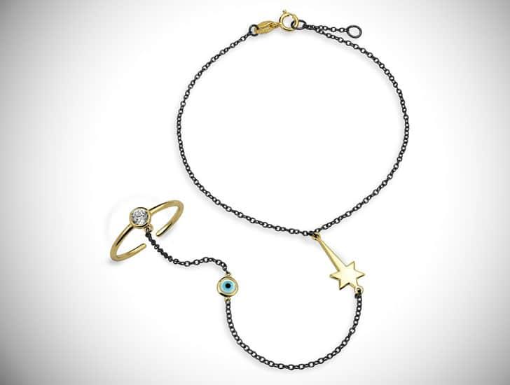 Evil Eye Hand Chain Bracelet