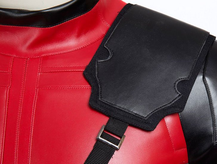 Faux Leather Deadpool Costume