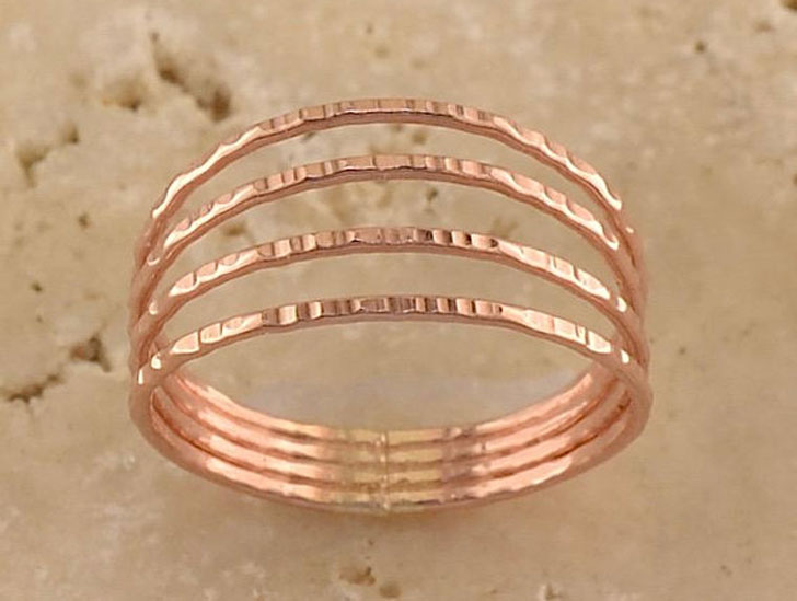 Four-in-one Rose Gold Thumb Ring