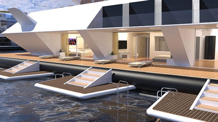 Futuristic Floating Pyramids