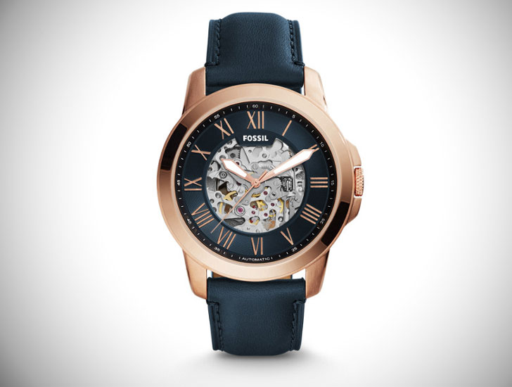 Grant Automatic Blue Leather Watch