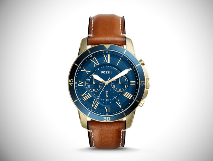 Grant Sport Chronograph Luggage Leather Watch