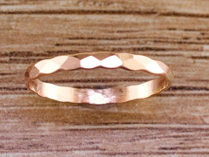 Hammered Rose Gold Thumb Ring