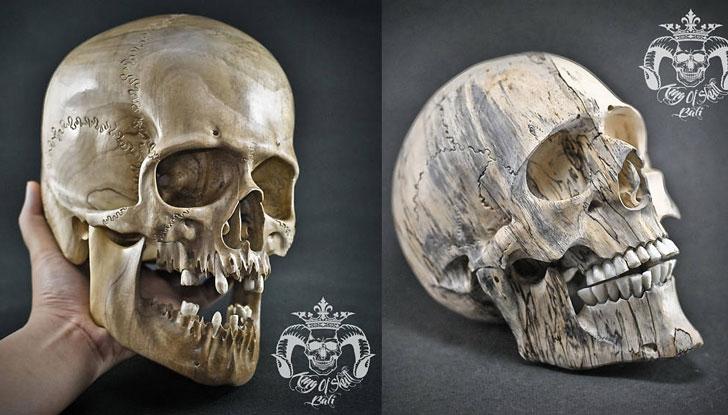 Hand Carved Skull Sculptures