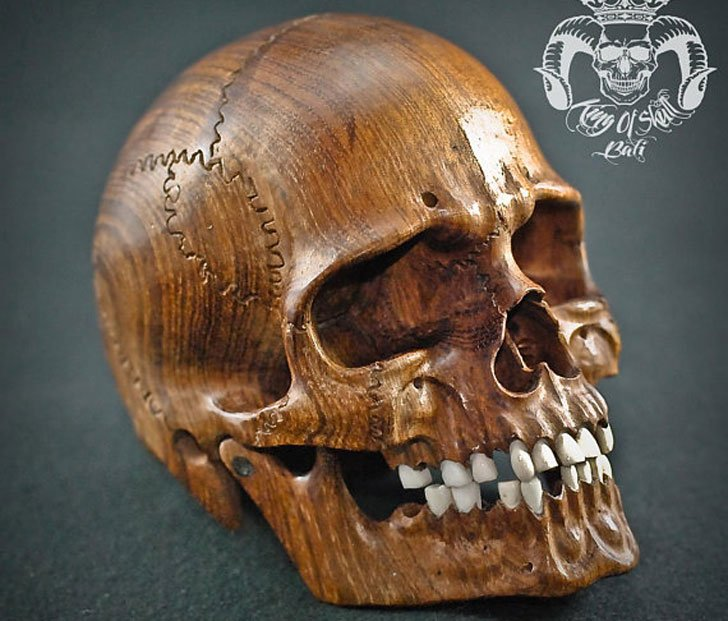 Hand Carved Skull Sculptures