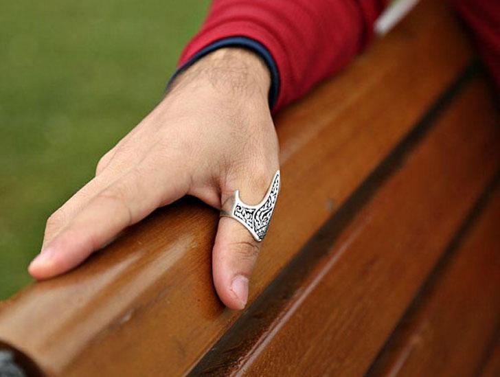 Handmade Deco Thumb Ring for Men