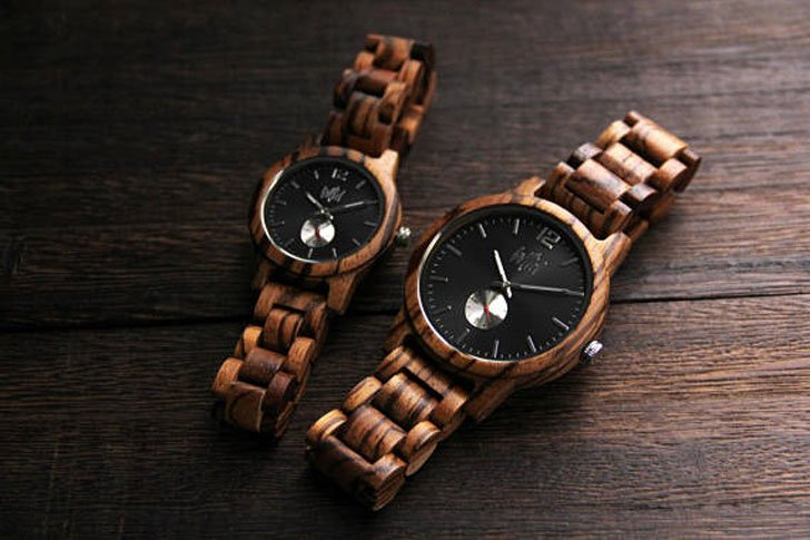 His & Hers Engraved Wooden Watch Set