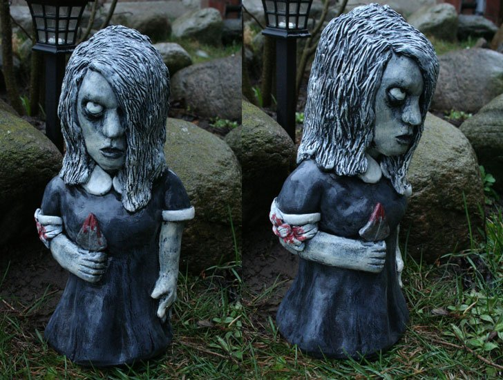 Karen Cooper 'Night of the Living Dead' Creepy Garden Gnome
