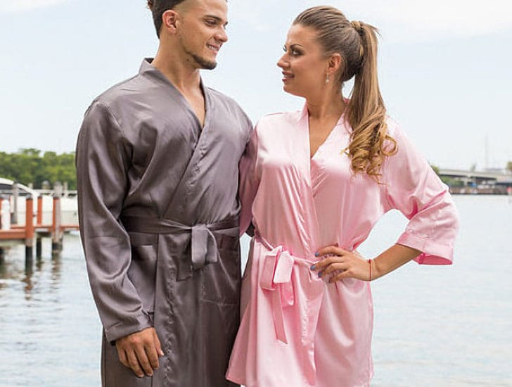 King and Queen Satin Couples Robes