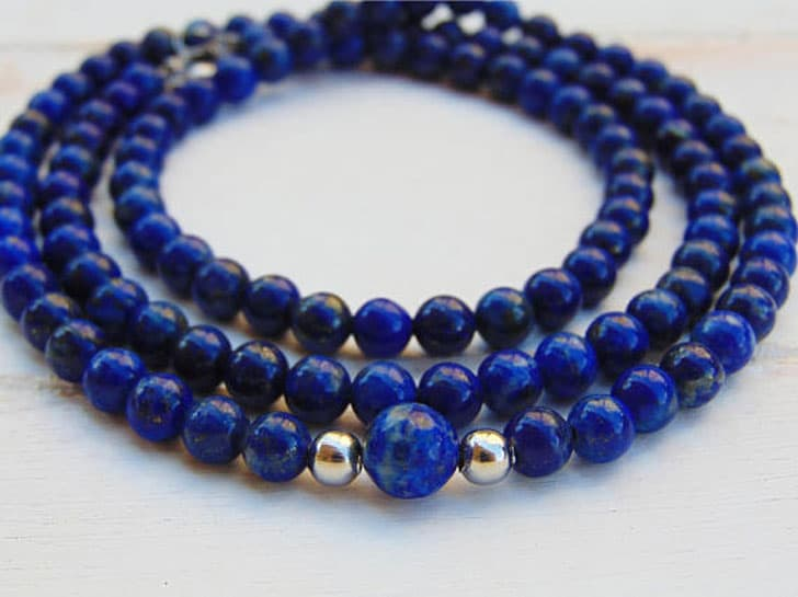 Lapis Lazuli Men's Beaded Necklace
