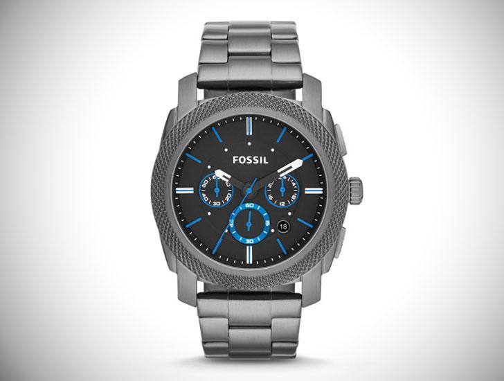 Machine Chronograph Stainless Steel Watch