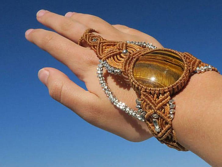 Macrame Tiger Slave Bracelet