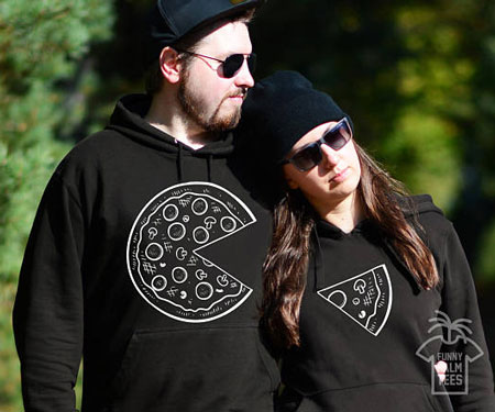 Matching Pizza Hoodies