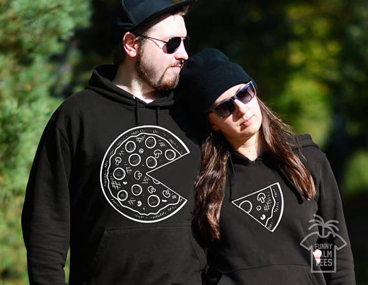 Matching Pizza Hoodies