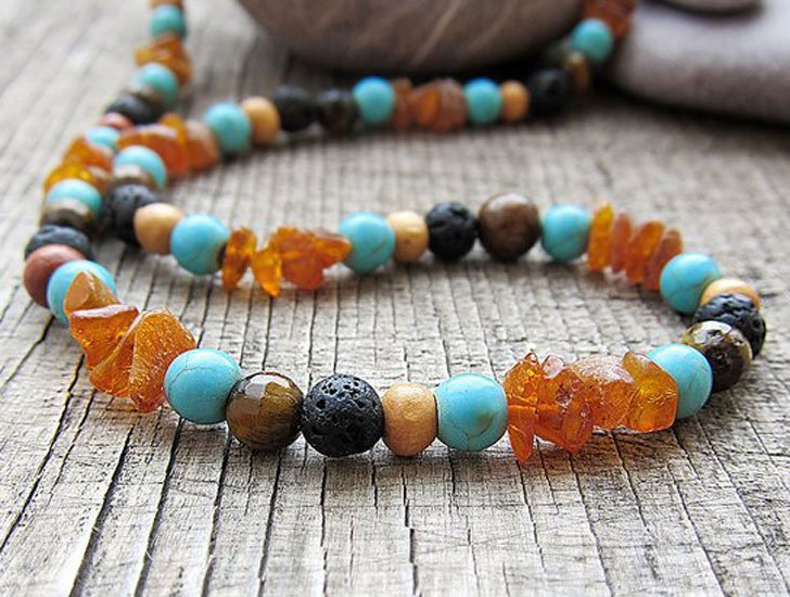 Men's Beaded Surfer Necklace