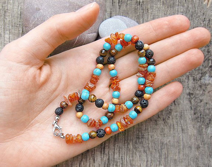 Men's Beaded Surfer Necklace - Beaded Necklaces For Men