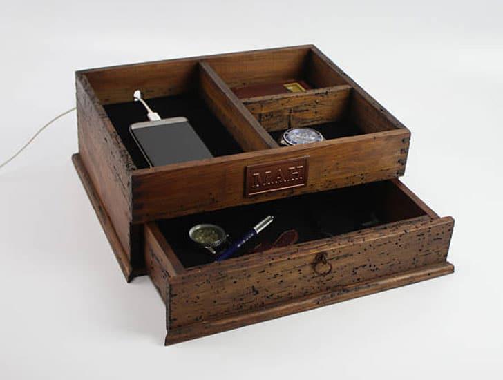 Men's Custom Reclaimed Wood Valet Box