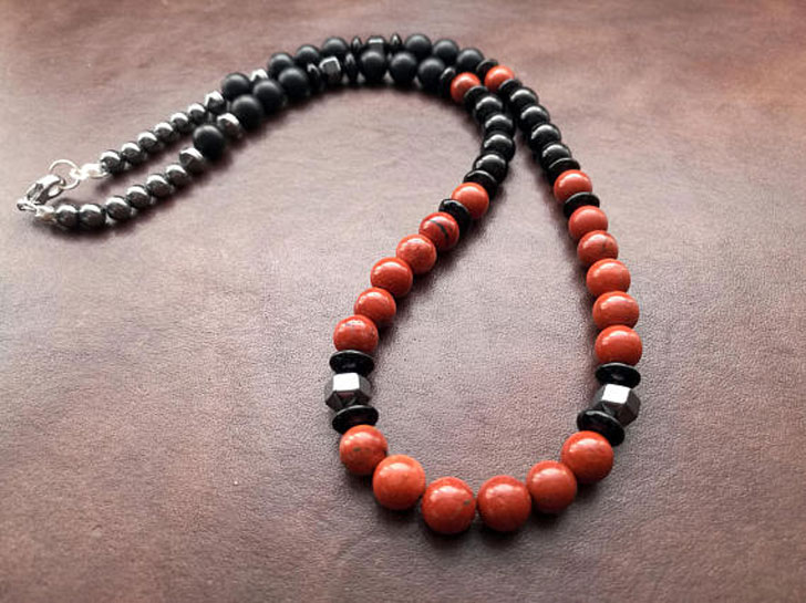 Mens Healing Stone Necklace - Beaded Necklaces For Men