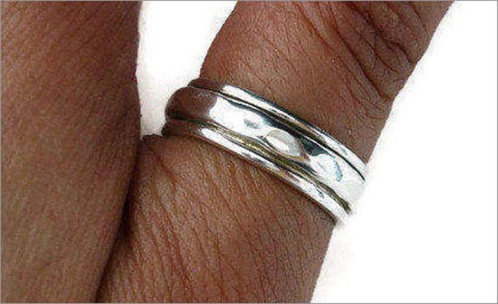 Mens Spinner Ring Thumb Ring