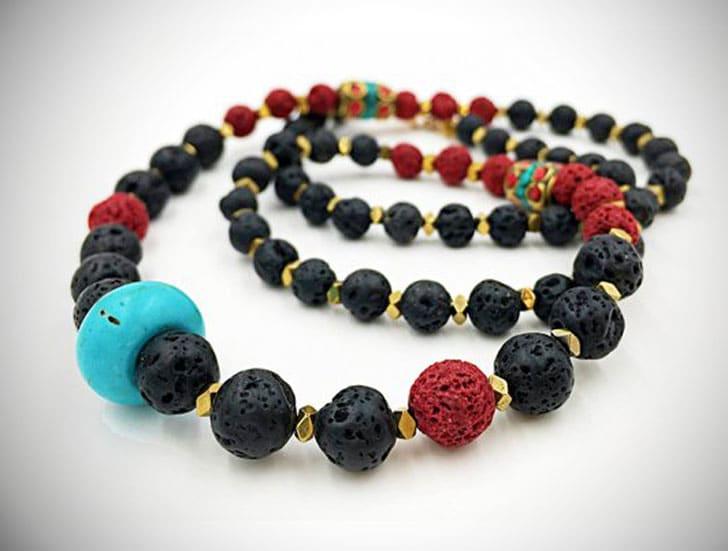 Men's Tibetan Mala Beaded Necklace - Unique Beaded Necklaces For Men
