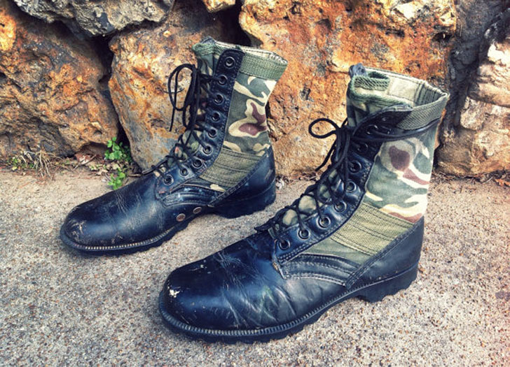 Men's Vintage Rothco Camo Military Combat Boots