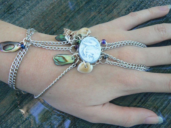 Mermaid Hand Chain Slave Bracelet