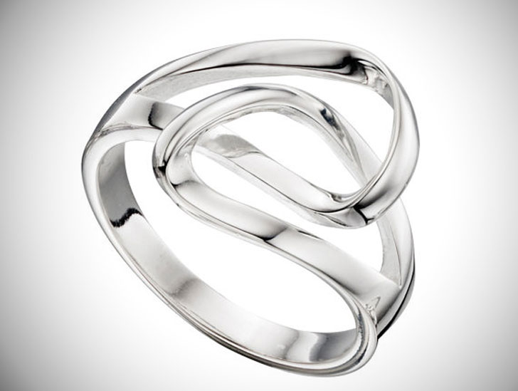 Modern Adjustable 925 Hallmarked Silver Thumb Ring