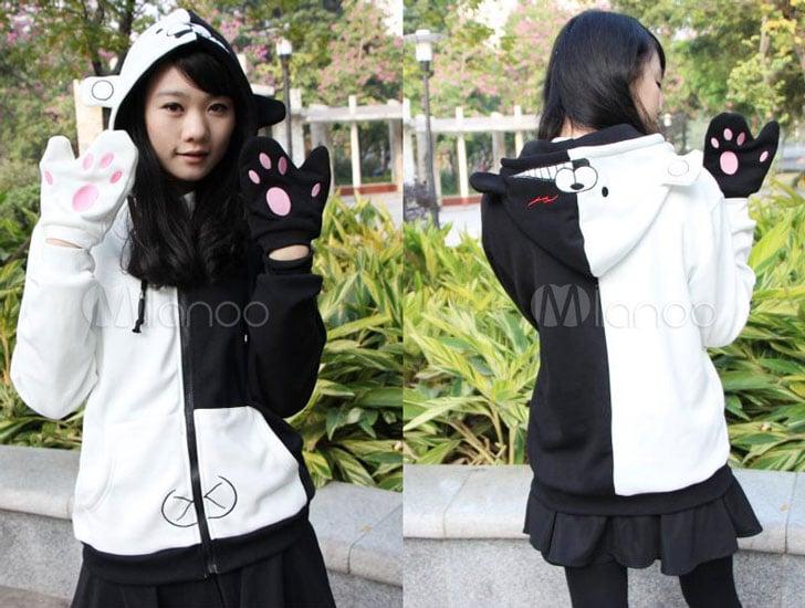 Monokuma Anime Hoodie with Gloves