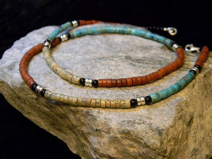 Native American Beaded Tribal Necklace