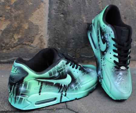 Nike Air Max Graffiti Drip Sneakers
