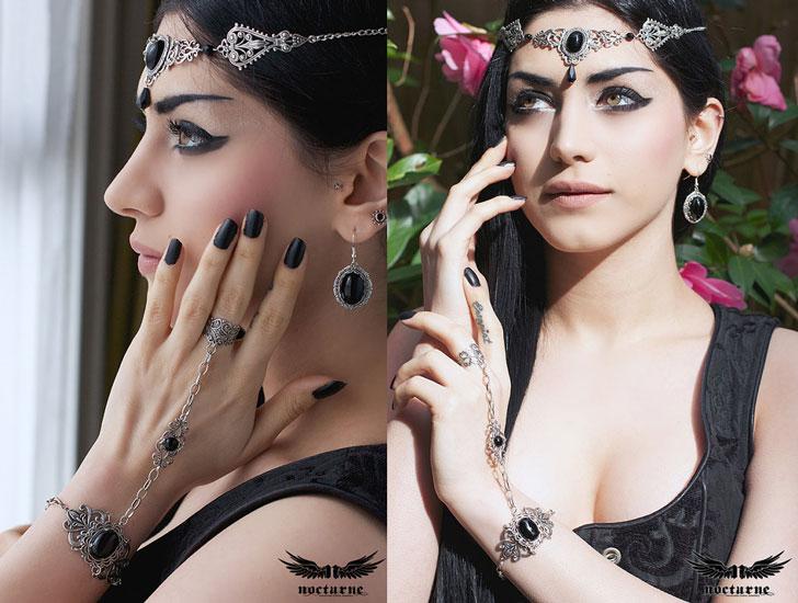 Onyx Goth Slave Bracelet