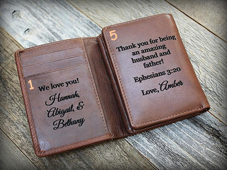 Personal Message Trifold Wallet