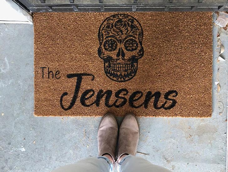 Personalised Sugar Skull Doormats