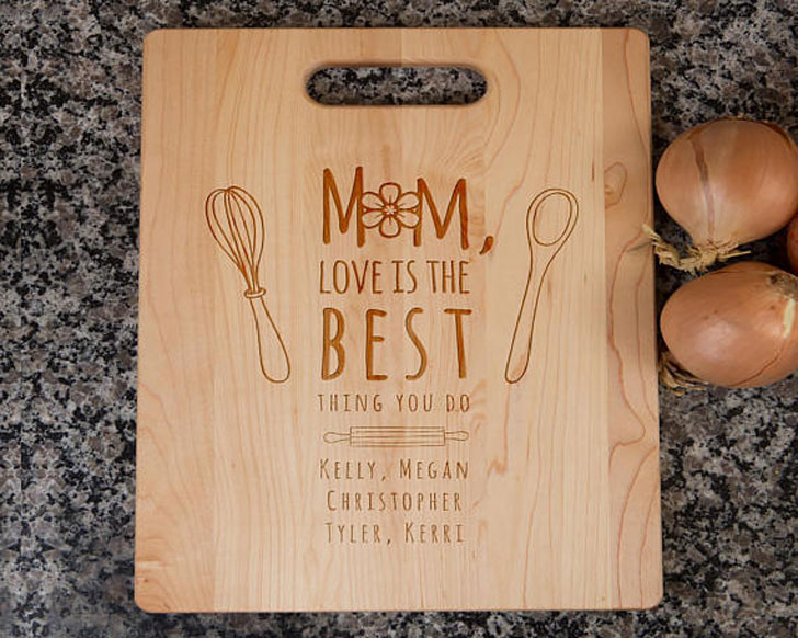 Personalized Cutting Board Gift for Mom - Sentimental Gifts For Mom