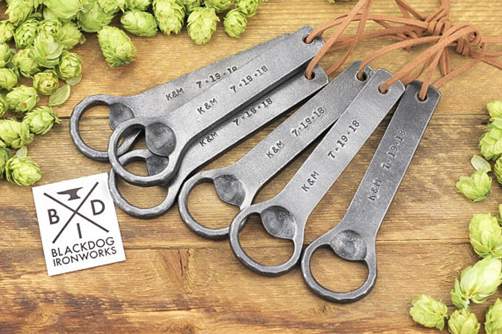 Personalized Hand Forged Iron Bottle Openers