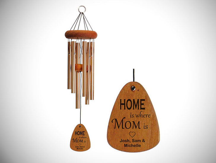 Personalized Home is Where Mom Is Wind Chime