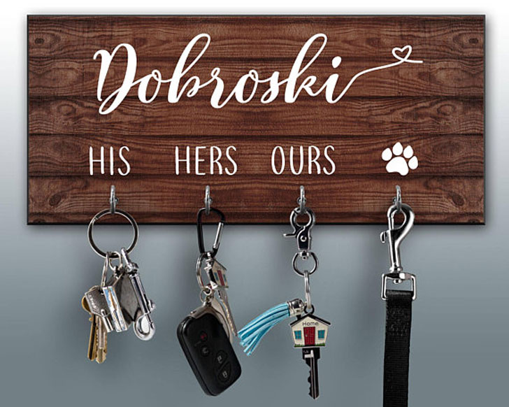 Personalized Key Ring Holder