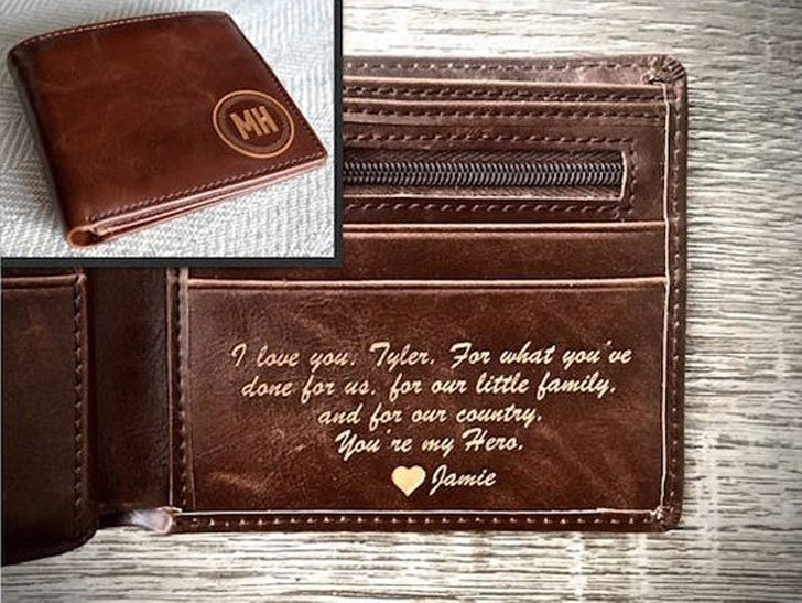 Personalized Message Leather Wallet