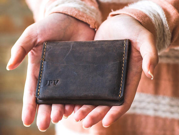 Personalized Minimalist Modern Leather Wallet