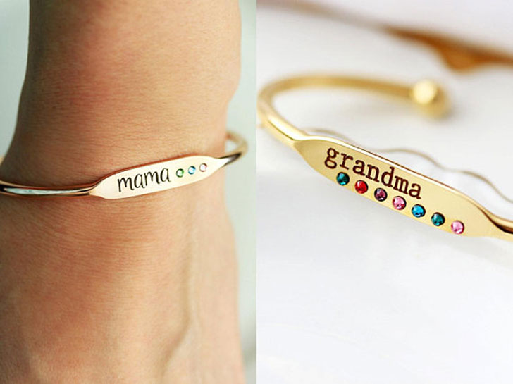 Personalized Mom Birthstone Bracelet - Sentimental Gifts For Mom