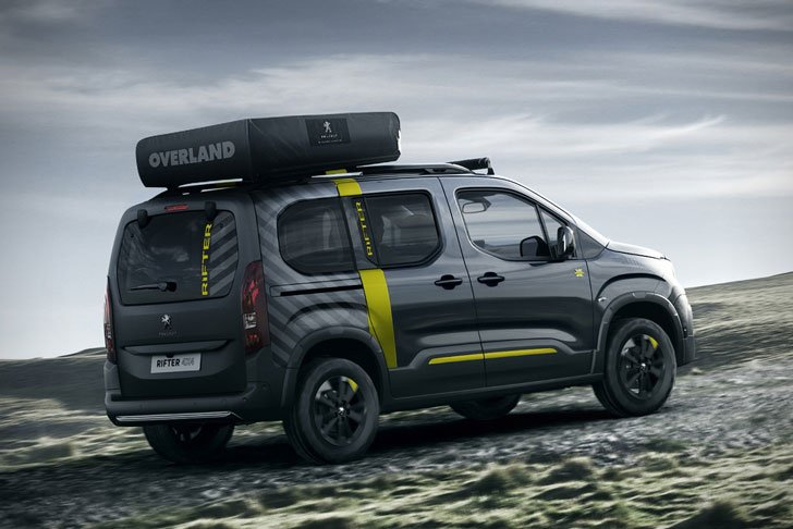 peugeot rifter 4x4 adventure van awesome stuff 365. Black Bedroom Furniture Sets. Home Design Ideas