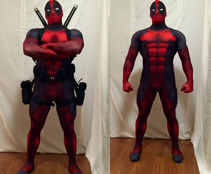 Quality Deadpool Cosplay Bodysuit