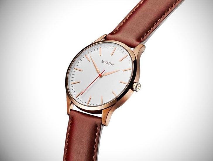 Rose Gold Natural Tan 40mm MVMT Series - Stylish & Unique Men's Watches Under $200
