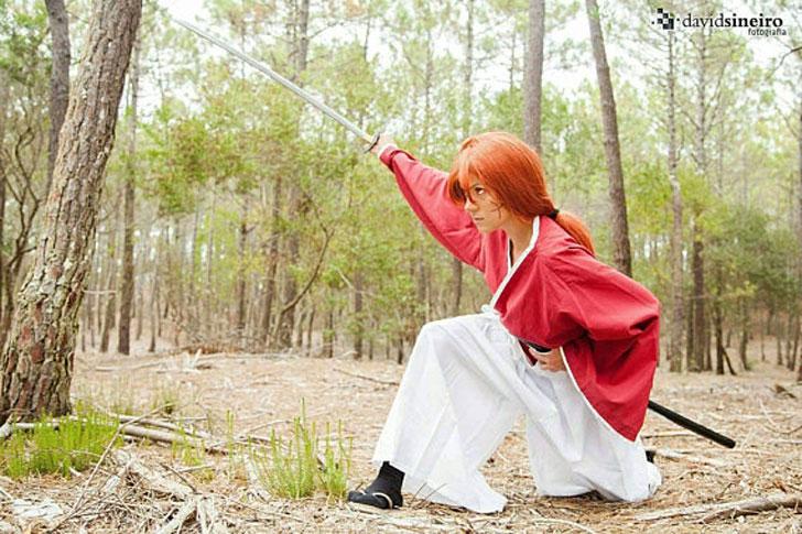 Rurouni Kenshin Anime Samurai Costume - anime costumes